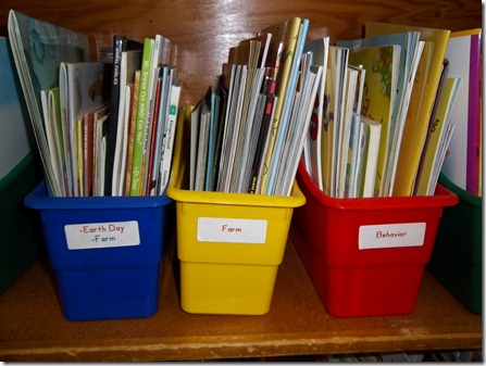 bins for themed books