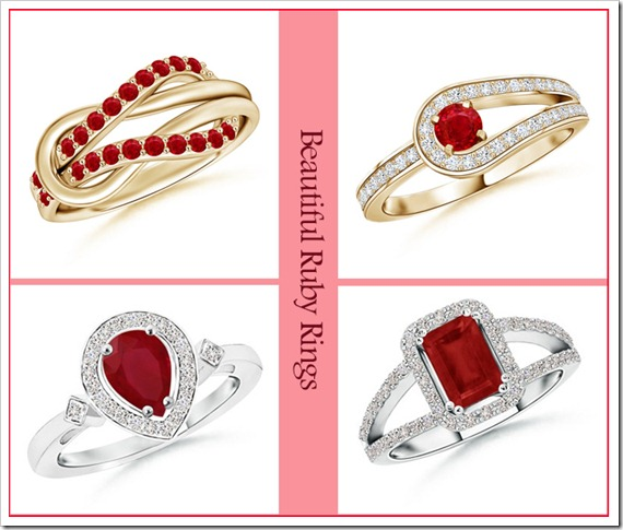 Beautiful Ruby Rings