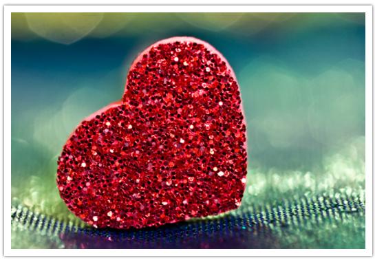 Glitter heart1