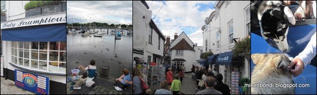 Lymington Quay - Truly Scrumptious - Munson meets a husky