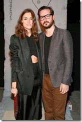 MIAMI BEACH, FL - DECEMBER 03: Giorgia Tordini (L) and Guido Callarelli attend the Porsche Design x Thierry Noir Art Basel Miami Beach Event at The Temple House on December 3, 2013 in Miami Beach, Florida.  (Photo by Neilson Barnard/Getty Images for Porsche Design)