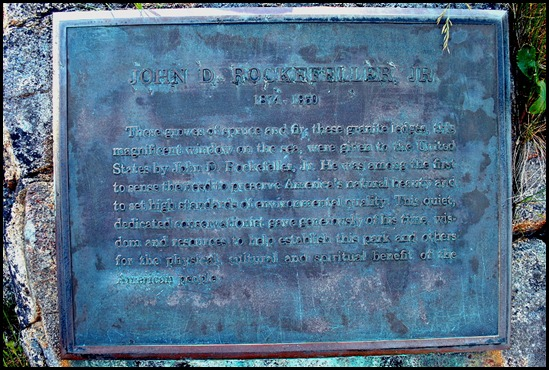 02y - Hiking Ocean Path - John D. Rockfeller, Jr. plaque