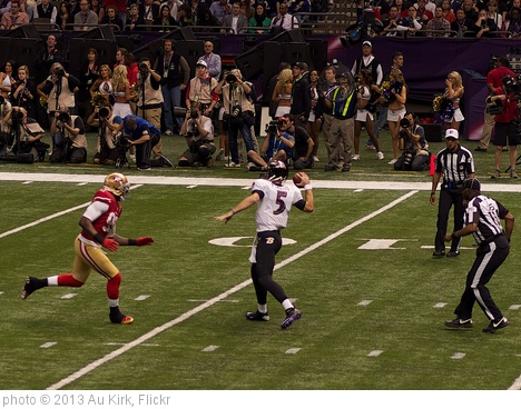 'Joe Flacco Pass During Super Bowl XLVII' photo (c) 2013, Au Kirk - license: http://creativecommons.org/licenses/by/2.0/