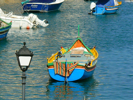 Malta pictures: traditional Maltese boats in St. Julian's