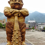 funny statue at kinugawa onsen station in Nikko, Totigi (Tochigi) , Japan