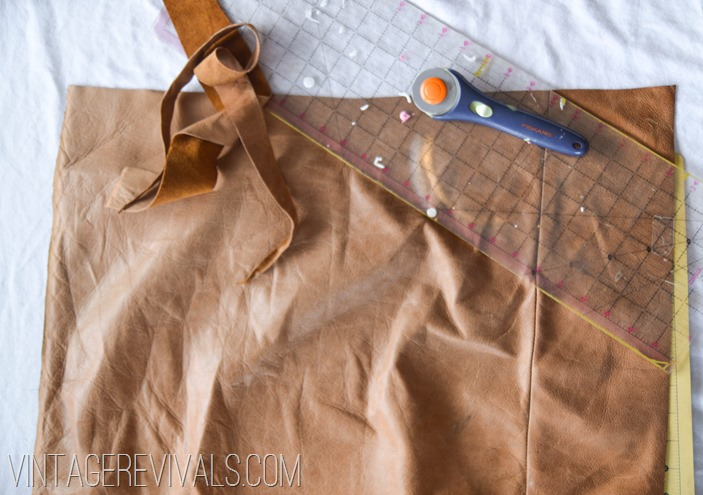 DIY Leather Pillow Tutorial vintagerevivals.com-4