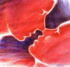 The last kiss pen drawing