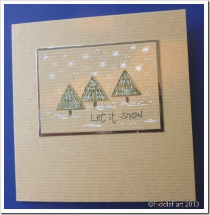 Kraft Christmas Tree Card