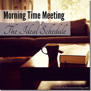 Morning Time Schedule