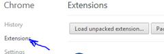 قم بالضغط على تبويب الإضافات Extensions