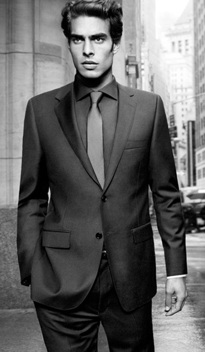 Jon Kortajarena by Inez & Vinoodh for DKNY F/W 2011-12 campaign (detail)