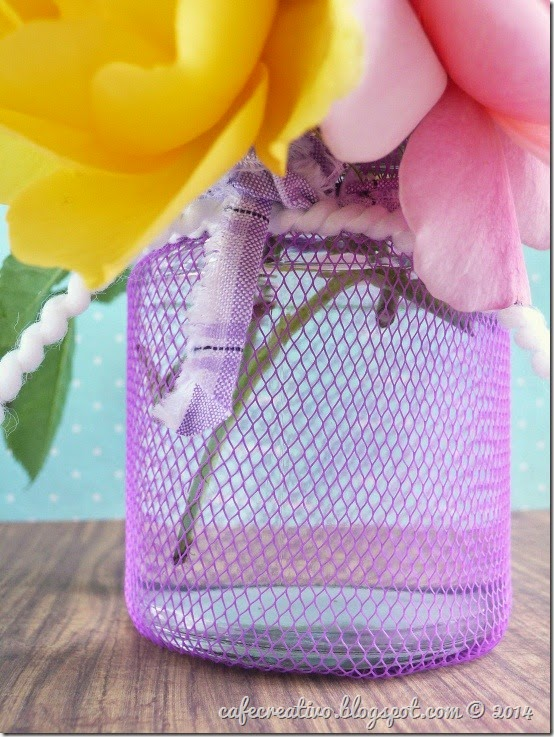 cafe creativo - tutorial riciclo vaso fiori retina (3)