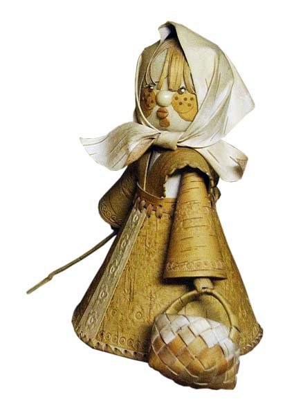 Берестяные куклы Верхотуровой Веры Ивановны