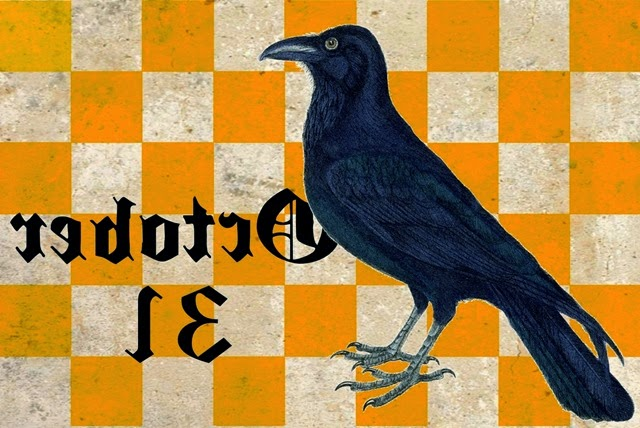 CONFESSIONS OF A PLATE ADDICT  Halloween Crow Graphic reversed