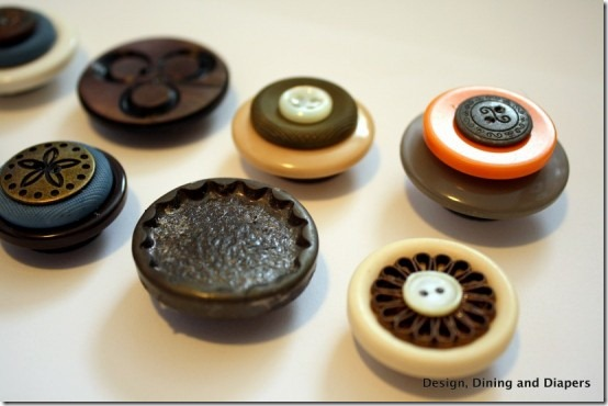 friday feature--refrigerator magnets made from buttons from design dining and diapers blog