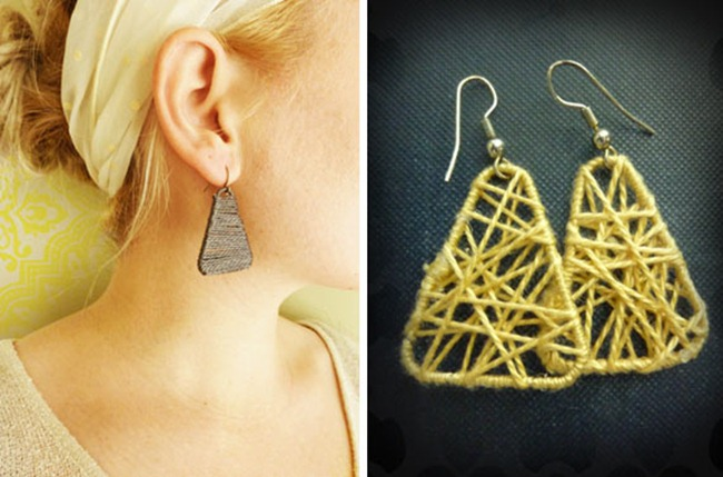paperclip earrings from evie s