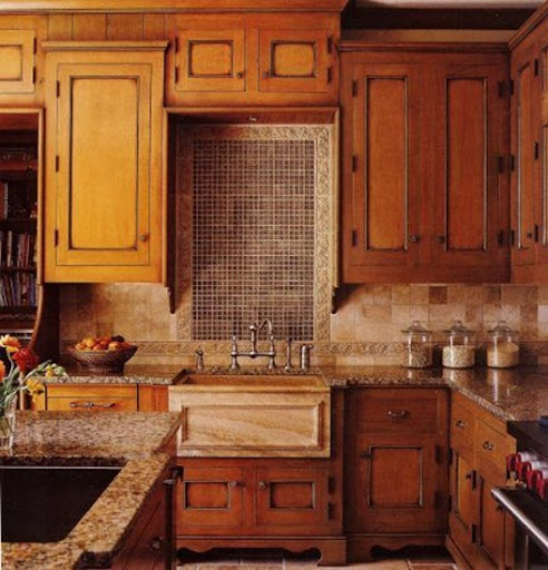 Marvelous all wood kitchen cabinets