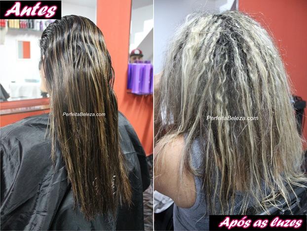 cabelo com luzes e progressiva