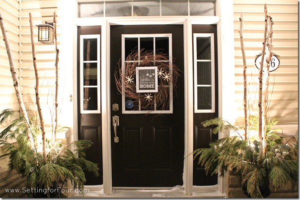 Winter white entryway from Setting for Four #decor #entryway