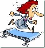 teacher  on treadmill