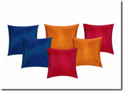 Buy Set By Nisha Gupta Silk Solid Colors Cushion set of 6 at Rs. 375 only (Covers)