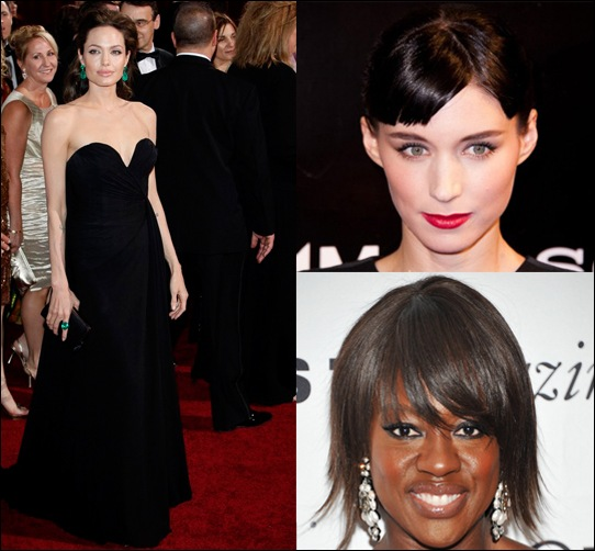 Angelina Jolie, Rooney Mara and Viola Davis