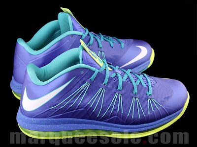 nike lebron 10 low gr blue green 2 01 A Look at LEBRON X Low Hornets. You Can Call Them Sprites Too.
