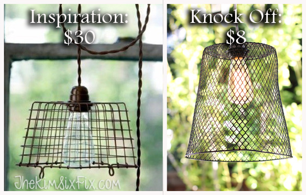 Wire basket light knock off