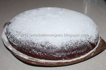Chocolate Flour-less Condensed Milk Cake - display