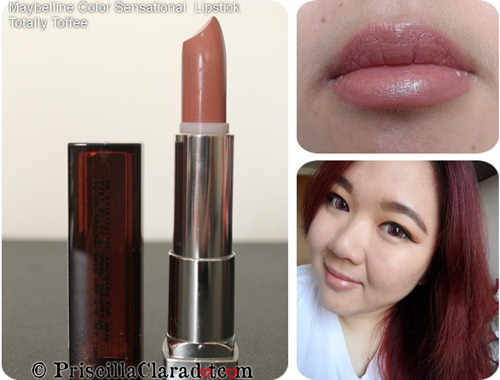 Priscilla review Maybelline Color Sensational  Lipstick Totally Toffee
