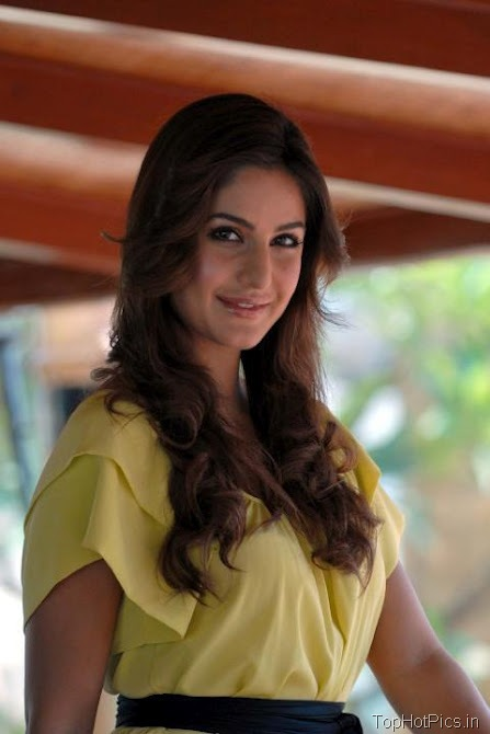 Katrina Kaif Sweet Photos in Short Yellow Dress 1