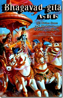 Krishna's discussion with Arjuna is the Bhagavad-gita