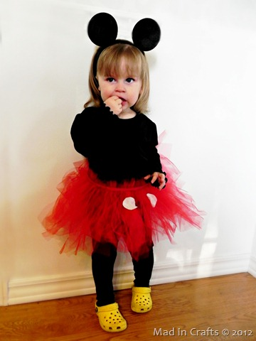 Little Girl's Mickey Mouse Costume