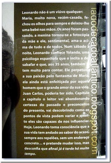 """Imagem da contracapa do romance """"Já É Tarde Há Muito Tempo"""" de Enrico-Maria Parodi"""