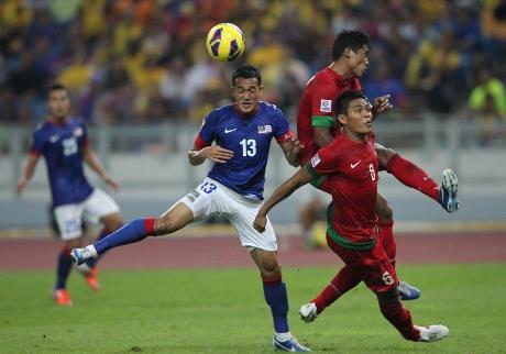 Hasil Pertandingan Indonesia vs Malaysia Piala AFF Suzuki Sabtu 1 Desember 2012.