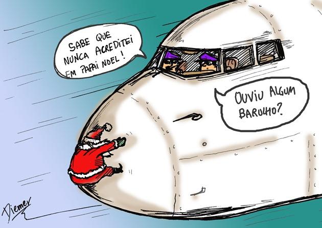 Charge Natal  Avião