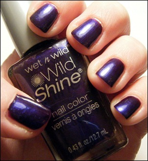 Wet n Wild Eggplant Nail Polish Swatch