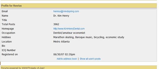 Dr. Kim Henry Profile