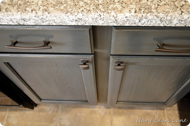 Navy Bean Lane Gray Kitchen Cabinets Before Amp After