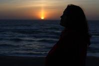 Pôr-do-Sol na Praia Grande