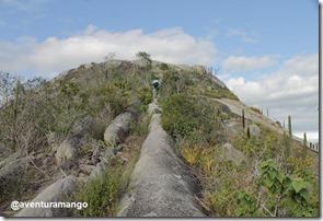 Chegando ao topo da Pedra de São Pedro