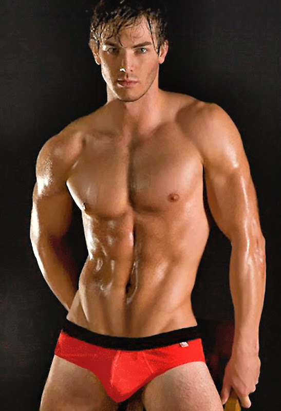 Dude in Red Underwear