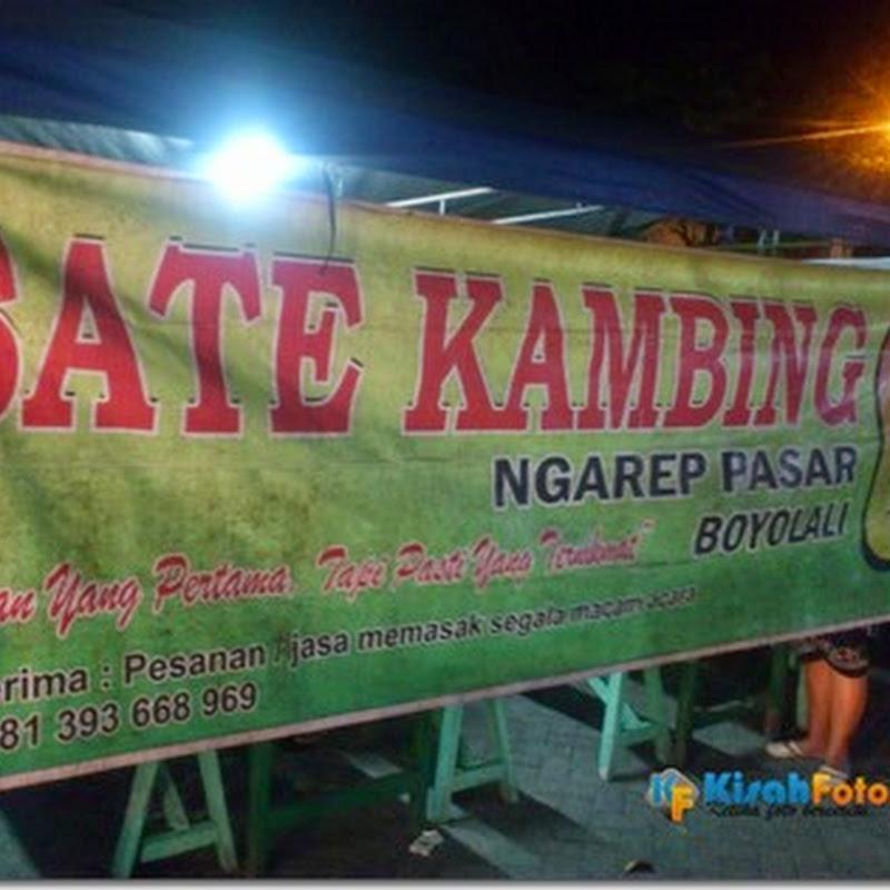 Sate Kambing depan Pasar Boyolali, Porsi Pas…