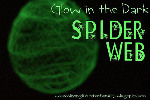 glow in the dark spider web kids activity