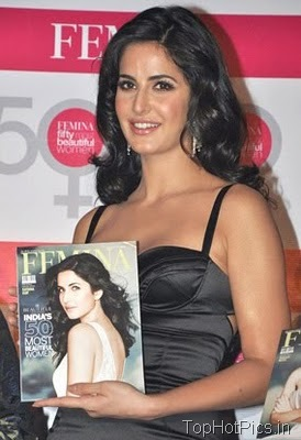 Katrina Kaif in Gorgeous Black Dress at Femina Launch 1