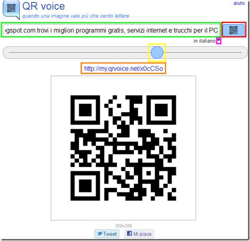 QR voice