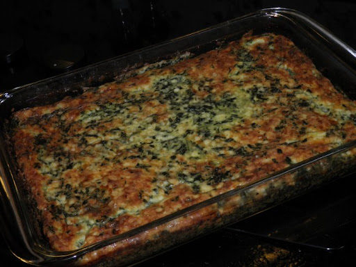 Mary-Kay's version of the spinach torta could pass as lasagna!
