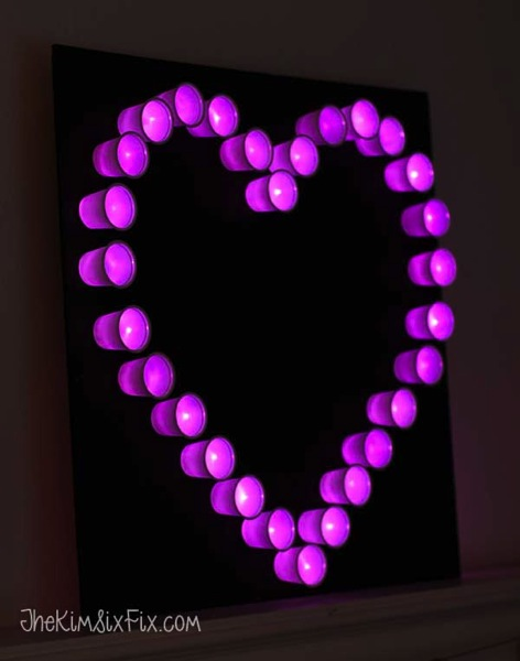 Heart pink marquee light