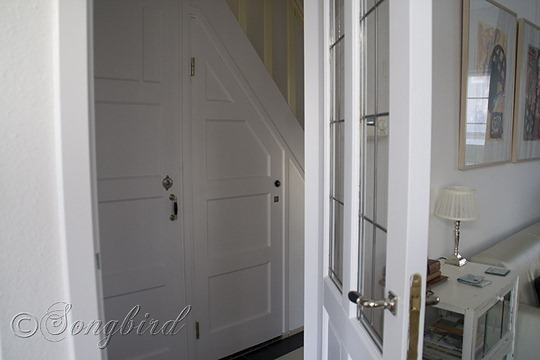 White Painted Hallway Doors
