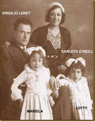 Carlota con Virgilio Leret e hijas